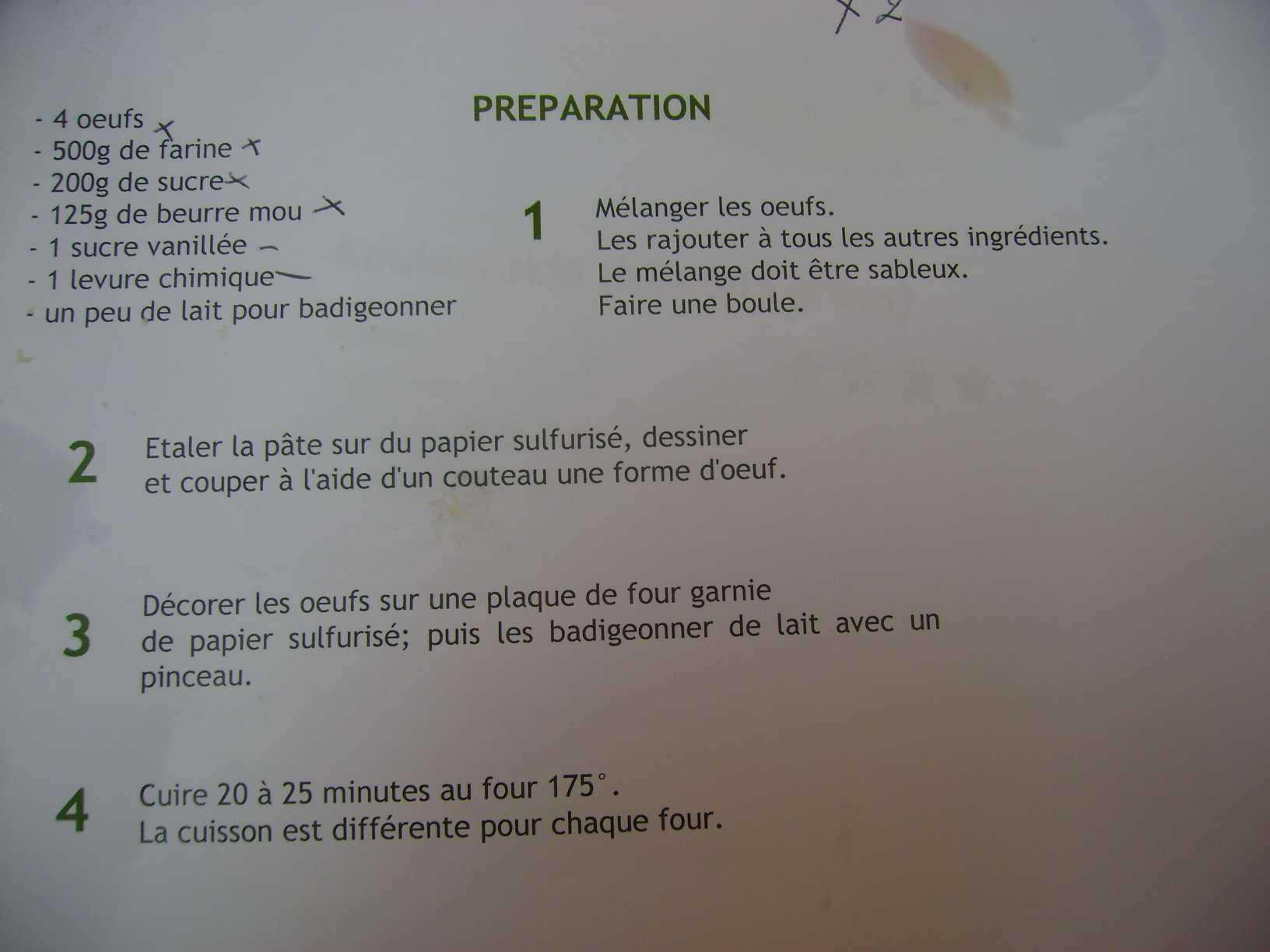 Mercredi pr paration des paniers de p ques et g teaux - Art cuisine longuenesse ...