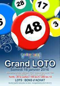 affiche loto 2016